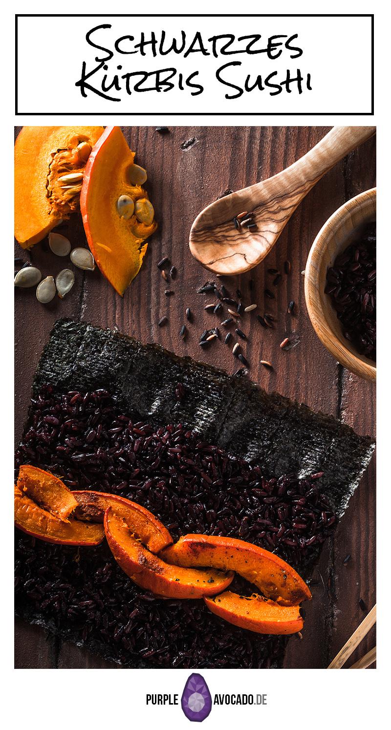 Verpass deiner Sushi Routine einen Kick und probier dieses schwarze Kürbis Sushi aus. Es sieht nicht nur besonders aus, es schmeckt auch hervorragend!