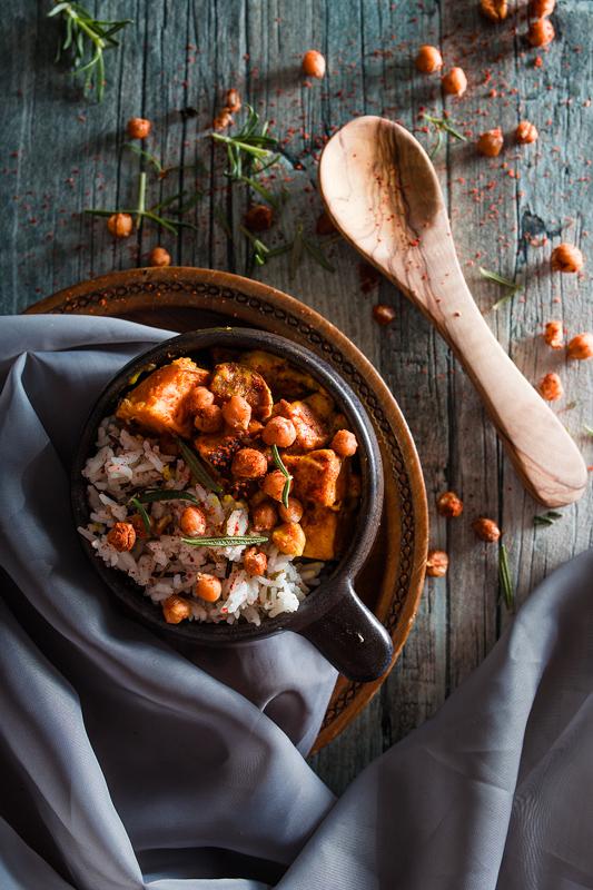 Curry mit Süßkartoffeln und Kichererbsen