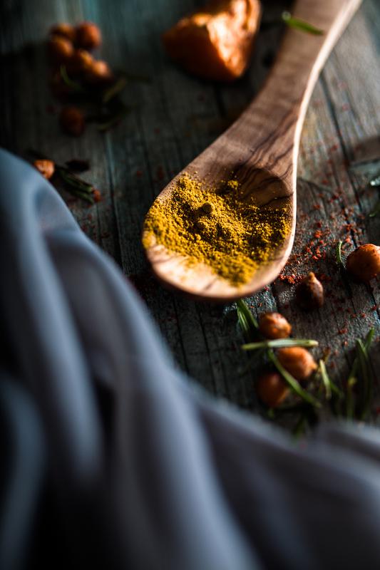 Curry mal anders: Geröstete Süßkartoffeln und Kichererbsen