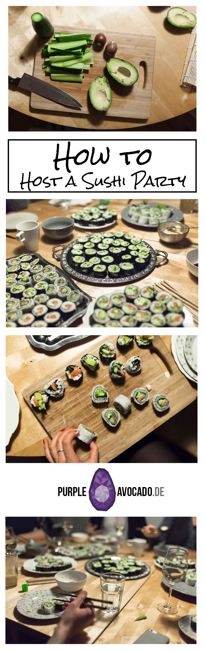 Want to host a Sushi Party but don't know how? Here's a handy guide with everything you need to know in order to plan a stress free and fun Sushi Evening with your friends.