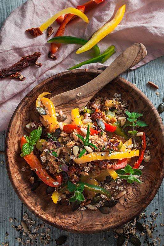 Jamies Food Revolution inspirierte Paprika Pfanne