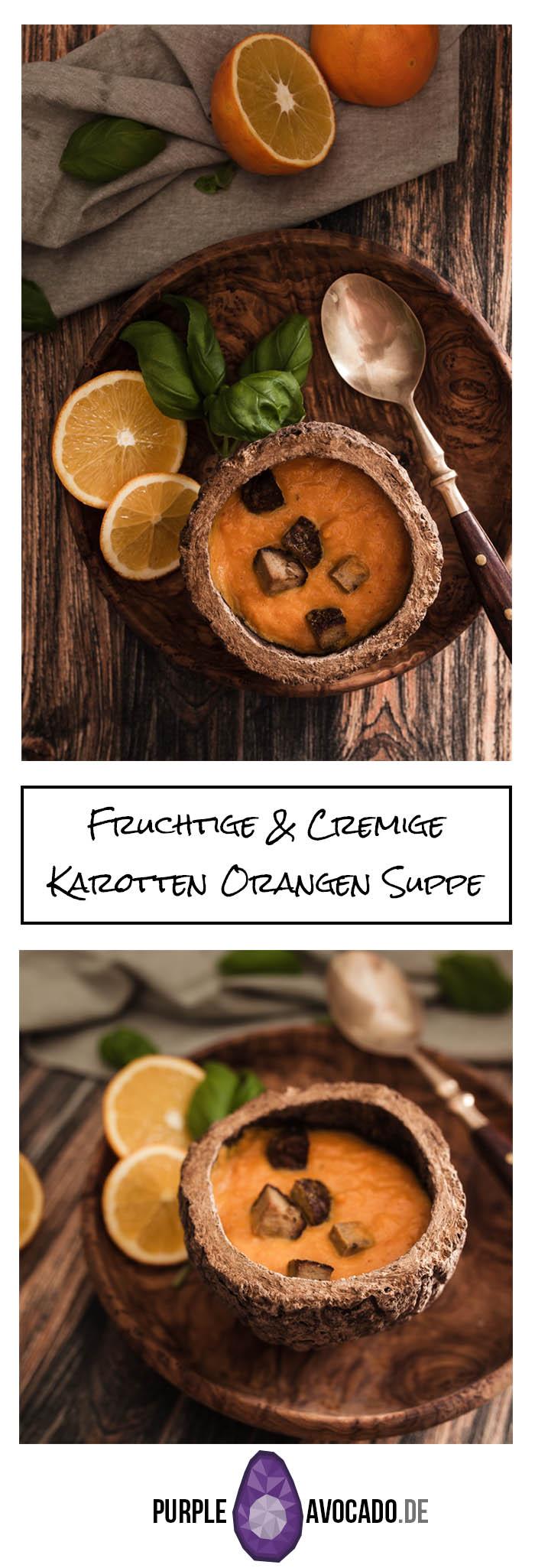 Mit dieser veganen Karotten Orangen Suppe holt man sich ein bisschen fruchtig, exotischen Sommer-Geschmack in die kalte Jahreszeit. Mit Räuchertofu garniert bekommt sie das gewisse Etwas und eignet sich nicht nur als Vorspeise.