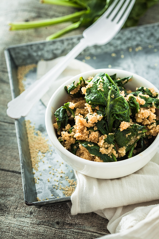 Top 20 Recipes 2016 from Purple Avocado - One Pot Couscous with Spinach and Peanut Sauce