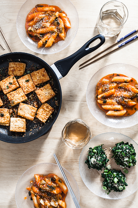 Top 20 Recipes 2016 from Purple Avocado - Tteokbokki, crunchy Tofu and Korean Spinach Salad