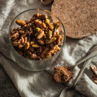 Caramelized spiced nuts with curry and cinnamon
