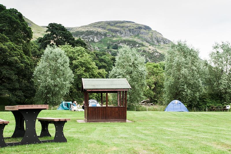 Die 7 schönsten Campingplätze in Schottland. Sterling: Witches Craig Caravan & Camping Park