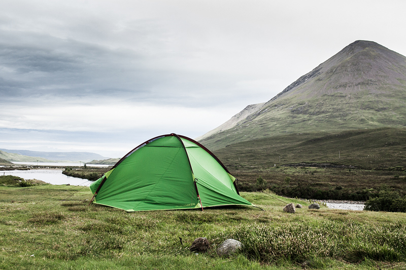 Great campsites in Scotland on the Isle of Skye: Sligachan Camping