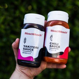 Grillsaucen von MoschMosch: Yakitori Sauce und Chili Sauce