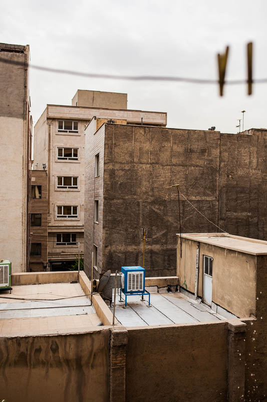 View out of the window in South Tehran