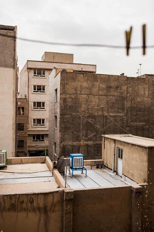 Blick aus dem Fenster auf Süd Teheran