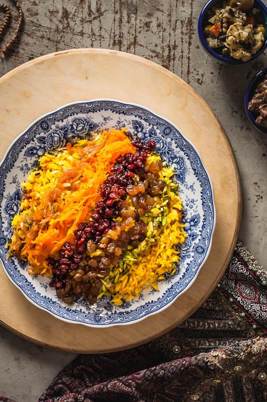 Morassa polo – Reis mit verschiedenen Toppings