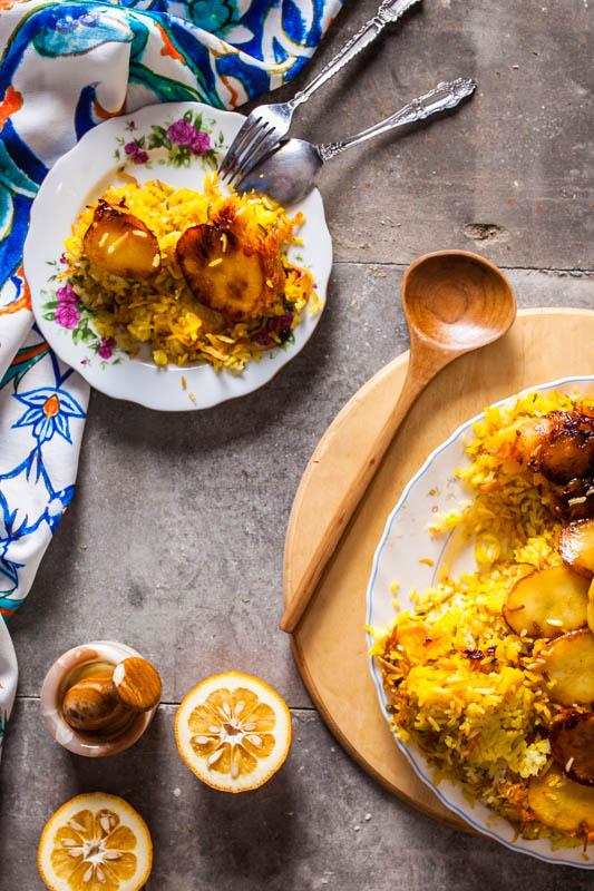 Polo ba tahdig sibzamini – Reis mit Kartoffeln