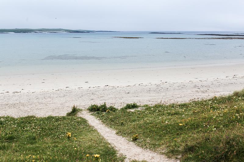 Die schönsten Campingplätze Schottlands auf den äußeren Hebriden. North Uist: Balranald Camping