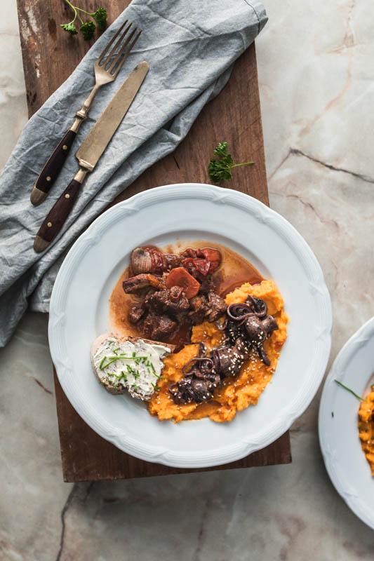 Kürbis-Süßkartoffel-Stampf [Food'n'Spice Nomads Blogger-Event]