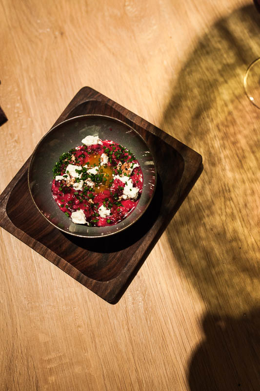 Cremiges rote Beete Risotto im Hygge. Restaurant Guide Hamburg