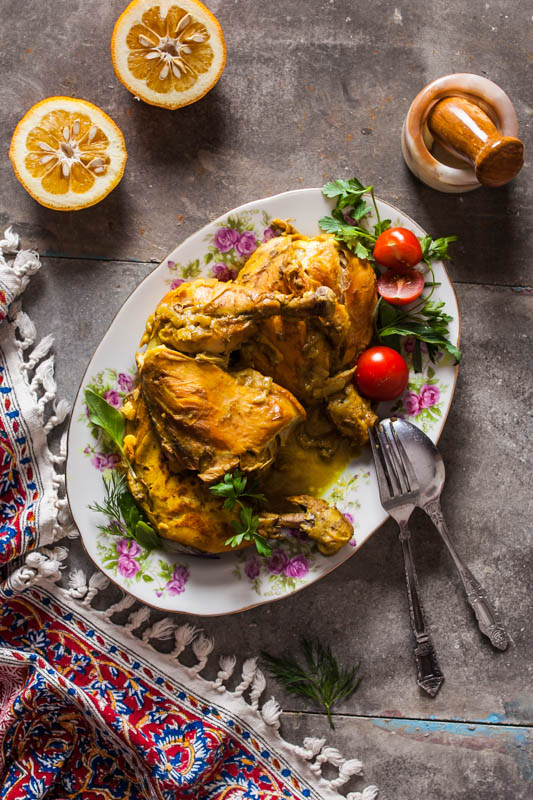 Morghe Zaferani – Saffron chicken