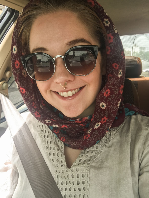 Selfie Time im Iran mit Kopftuch