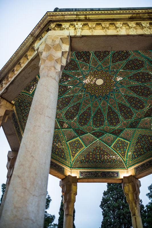 Tiled rooftop of Hafez Memorial