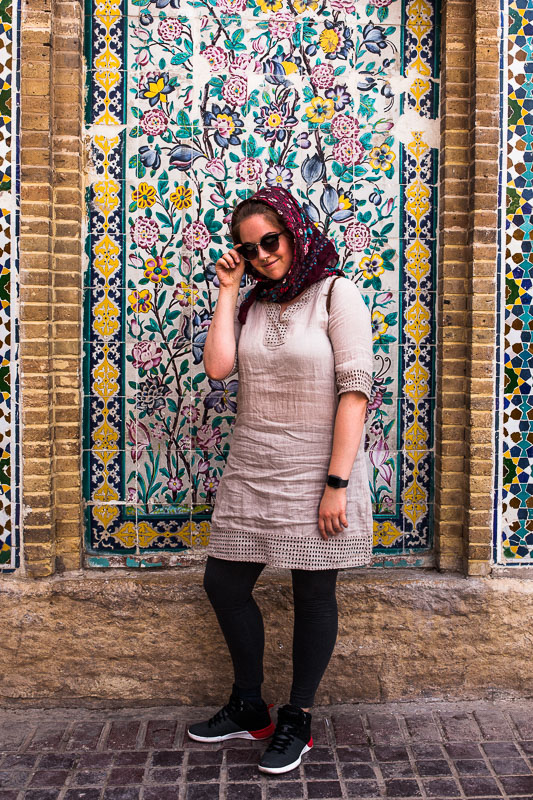 Selfie time in Iranian approved clothing