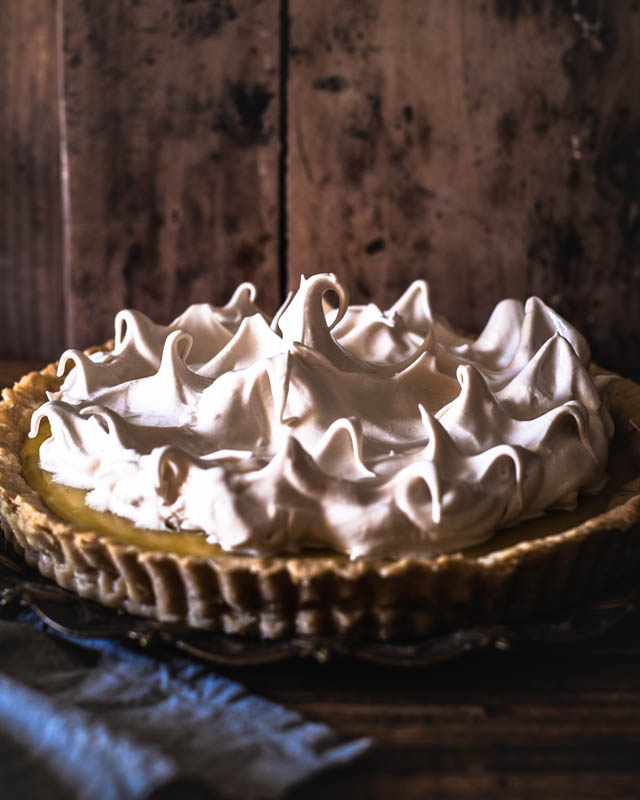 Iralian Meringue artfully shaped into little peaks