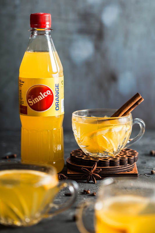 Weißer Glühwein Rezept mit Sinalco Orange