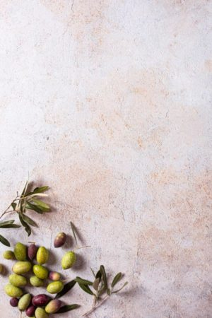 warmer Vinyl-Backdrop in hellem beige, mediterraner Stein-Optik