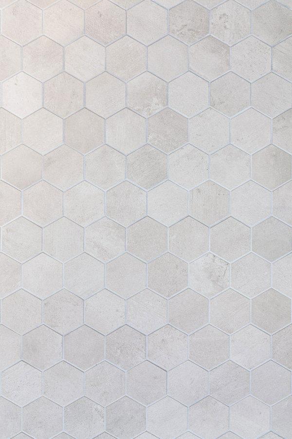 Helle Hexagonfliesen Vinyl Fotountergrund von PA Backdrops